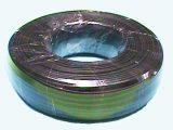Cable telefónico plano color negro