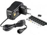 Adaptador con interruptor giratorio 3-12V 0.6A 10w (max) MW3N06