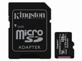 TARJETA MICROSD XC – 128GB + ADAPTADOR KINGSTON CANVAS SELECT PLUS – CLASE 10 – 100MB/S