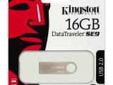 PENDRIVE KINGSTON DATATRAVELER SE9 16GB USB 2.0 CUBIERTA DE METAL PLATA