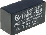 Relés miniaturas, serie LMR1 medidas 29×12,5×15,5 mm