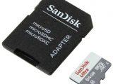Tarjeta de Memoria SanDisk Ultra 64GB microSD XC con Adaptador/ Clase 10/ 100MB/s